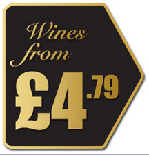 wine price label
