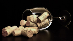 corks and wine glass