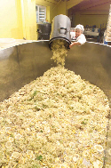 vat of elderflowers